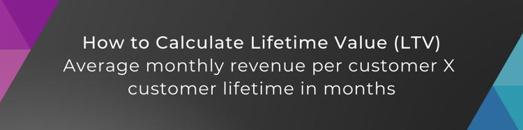 lifetime value calculation