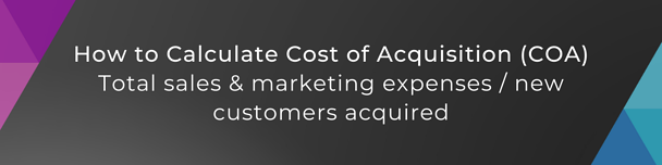 cost of acquisition calculation